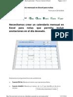 Crear Un Calendario Mensual en Excel Pa