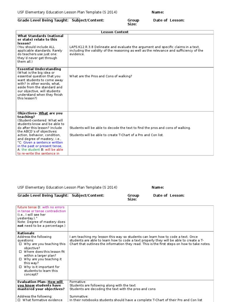 pro con list template