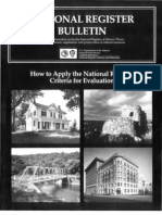 National Register Bulletin 15:Criteria for Evaluation