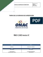 RAC- 1.3-02 Tarifas_Servicio_Acreditacion v 7