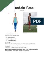 yoga pose packet