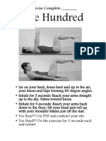 pilates task sheet