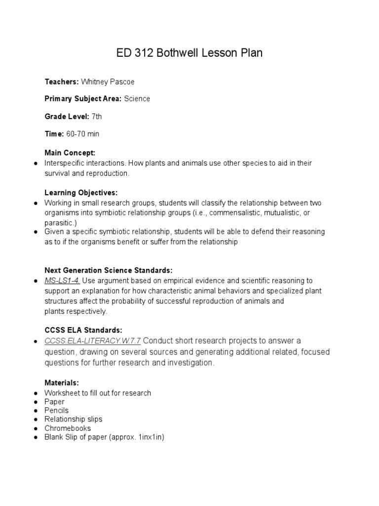 Worksheets Symbiotic Relationships Worksheet science day 1 whitney symbiosis parasitism