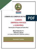Mesa 7 Reforma Laboral