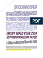 Revised Direct Taxes Code 2010-A Critique on Revised Discussion Paper-VRK100-21062010