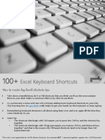 100 Excel Keyboard Shortcuts