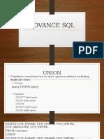 Advance SQL