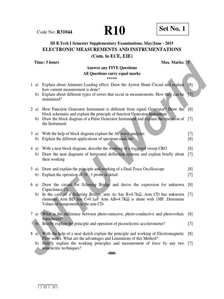 Electronic Measurements And Instrumentations 1 Electricity Block Diagram Explanation Electronics
