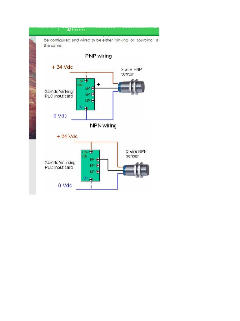 What is the Difference Between PNP and NPN When Describing 3 Wire  Connection of a Sensor