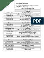 Schedule Participants