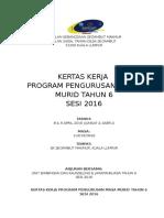 Kertas Kerja Program Pengurusan Masa 2016 2