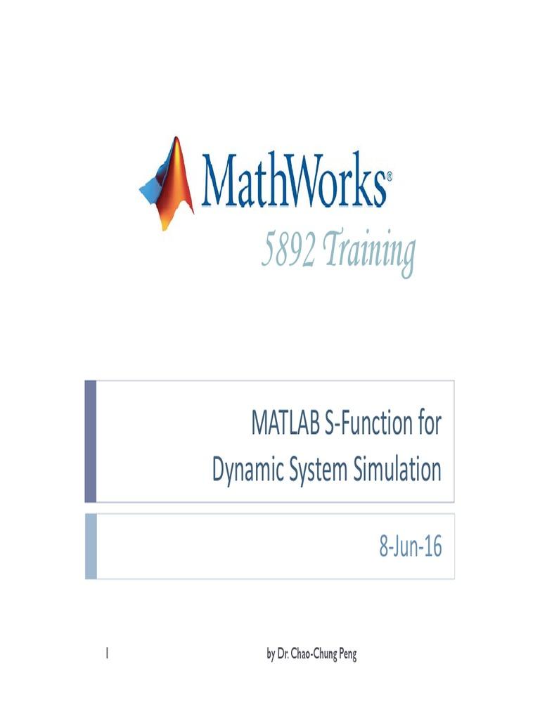 5892 MATLAB S-Function pdf   Function (Mathematics)   Matlab