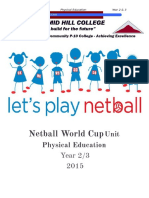 netball world cup unit- pyramid hill placement