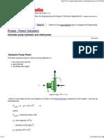 Pumps - Power Calculator