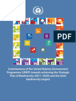 -Contributions of the United Nations Environment Programme Towards Achieving the Strategic Plan of Biodiversity (2011 - 2020 and the Aichi Biodiversit