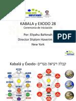 Kabala y Exodo 28 Ceremonia de Iniciacion