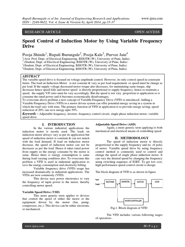 Speed Control Of Induction Motor By Using Variable Frequencypdf Further Frequency Drive Circuit Diagram Together With Vfd Power Inverter Rectifier