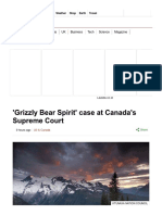 'Grizzly Bear Spirit' Case at Canada's Supreme Court - BBC News