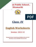 IV English-Worksheets Session 2012 2013