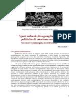 Alfredo Alietti, Spazi urbani, disuguaglianze e politiche di coesione sociale Un nuovo paradigma neoliberista?
