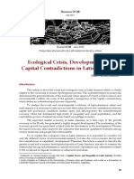 Guido Pascual Galafassi, Ecological Crisis, Development and Capital Contradictions in Latin America1