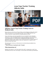 200 HOUR VINYASA YOGA TEACHER TRAINING COURSES IN RISHIKESH, INDIA