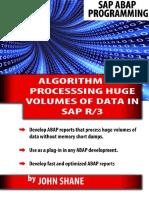 Sap Abap Algorithm for Processing Huge Volumes of Data in Sap R3 - John Shane