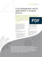 Lean Management and Its Applicability to Hospital Practice