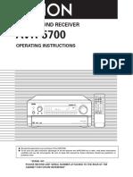 Denon Avr-5700 User Manual