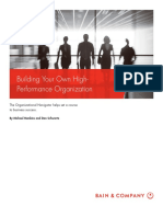 BAIN BRIEF_Decision Insights - Step 1 Building Your Own High-Performance Organization