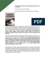 Sebuah Dielektika Sederhana Dalam Psikologi Forensik