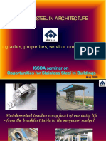 Stainless Steel in Architecture - Grades, Properties & Selection - Mr M Ramadas,Salem Steel Plant