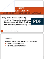 Unit-1 Lecture-6- Light Weight Construction Materials by Brig. S.K. Sharma