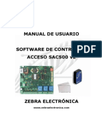 Manual Software Sac500 v2