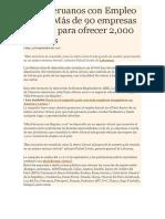 Más Peruanos Con Empleo 2016
