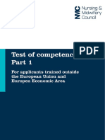 Test of Competence Part 1 Candidate Handbook