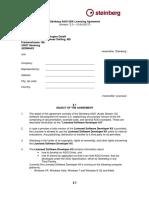 Steinberg ASIO Licensing Agreement
