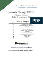 Síntesis Consejo FEUC - Ordinario 30-11-16