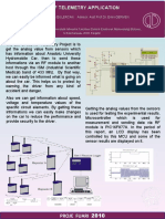 RF Telemetry Application, Project Fair Poster 2010
