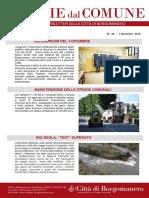Notizie Dal Comune di Borgomanero del 1° Dicembre 2016
