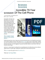 A Visual History of the Mobile Phone - Business Insider