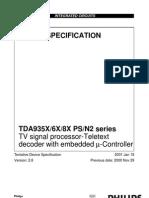 Datasheet Tda 9351ps
