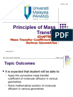 8. Chapter 7a Mass Transfer Coefficients for Various Geometries