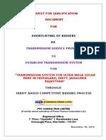 Rfq Fatehgarh Itp 261