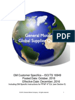 GM Customer Specifics Requirements ISO TS 16949 Oct 2016