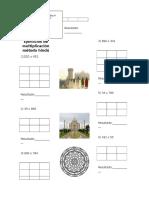 Ejercicios de Multiplicación Método Hindú