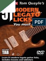 51 Modern Legato Licks Tab Book