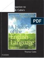 Cable a Companion to Baugh & Cable's a History of the English Language 4th Ed