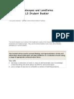 LS Student Booklet Landscapes and Landforms