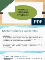 ANOMALIAS ANATOMICAS CONGENITAS